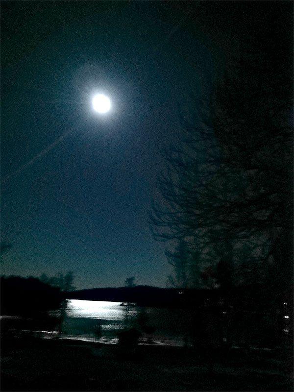Månskenstur med pannlampan 9 km